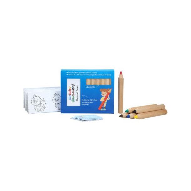 JUMBO Buntstifte Set mit Memo-Kärtchen, inkl. 4c Rundumdruck