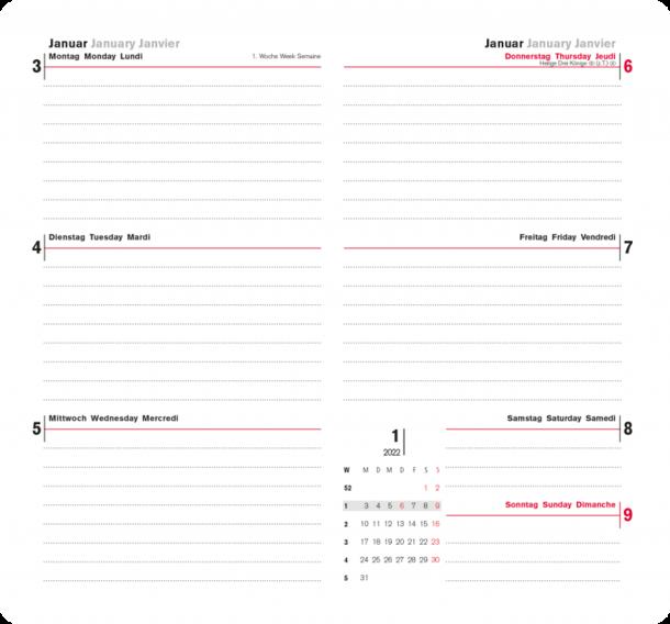 Kalender, Agenda, Tages-, Wochen-, Manager- und Pultkalender