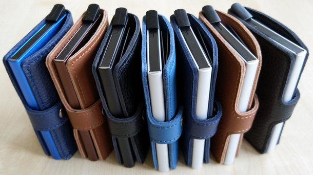 Art. RFID-7910 Geldbörse mit RFID-Schutzbox, mit echt Lederumschlag